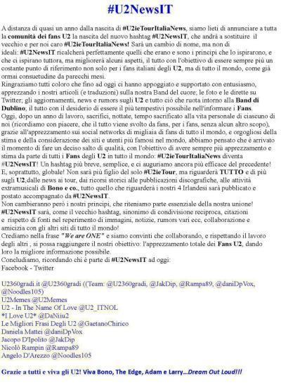 U2NewsIT - Italiano