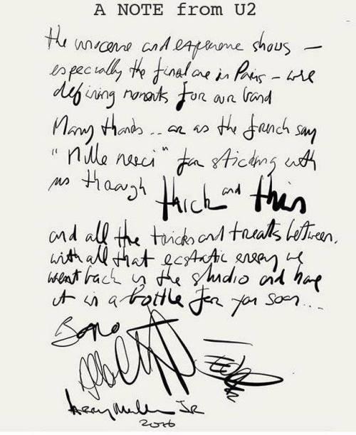 Lettera Bono Ticketmaster