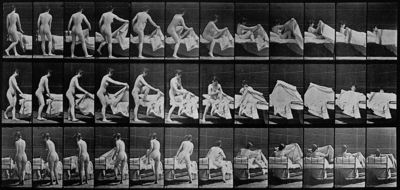 Muybridge - getting into bed